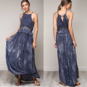 KENDRA Boho Vibes Maxi Dress - NAVY